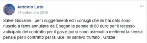 Testimonianza Antonio Leto